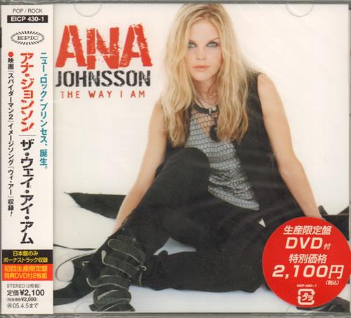 Ana Johnsson The Way I Am 2004 Japanese 2 Disc Cd Dvd Set Eicp430 1