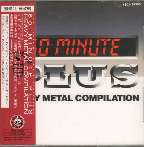 Various Rock Metal 60 Minute Plus Heavy Metal Compilation 1992 Japanese Cd Album Tecx 25390