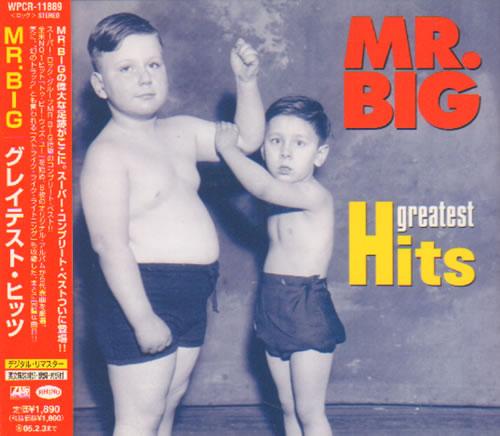 Mr Big Us Greatest Hits 2004 Japanese Cd Album Wpcr 11889