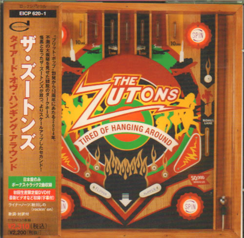 The Zutons Tired Of Hanging Around 2006 Japanese Cd Album Eicp 642