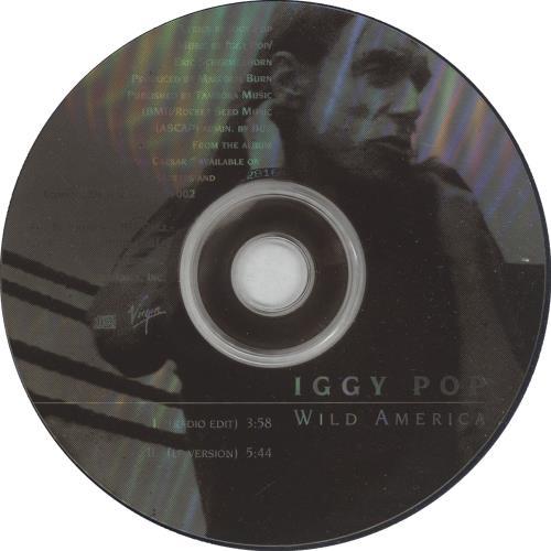 Iggy Pop Wild America 1993 Usa Cd Single Dpro 12816