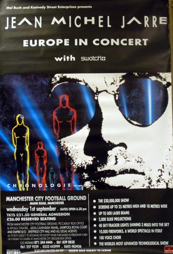 Click to view product details and reviews for Jean Michel Jarre Europe In Concert Manchester 1993 Uk Poster 60 X 40.