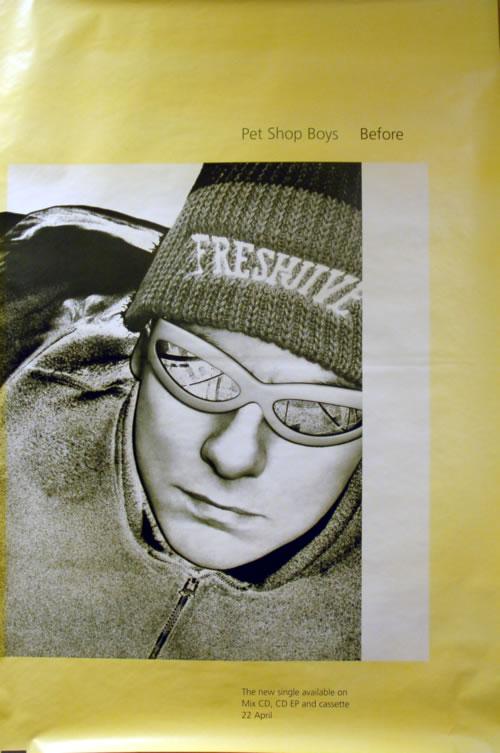 Pet Shop Boys Before Chris Lowe 1996 Uk Poster Promo Poster