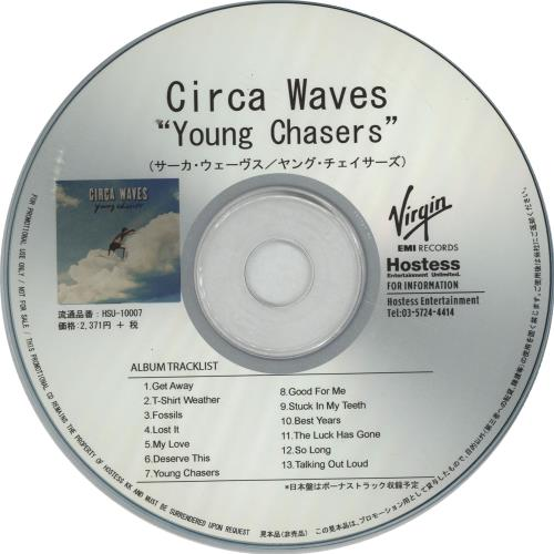 Circa Waves Young Chasers 2015 Japanese Cd R Acetate Hsu 10007