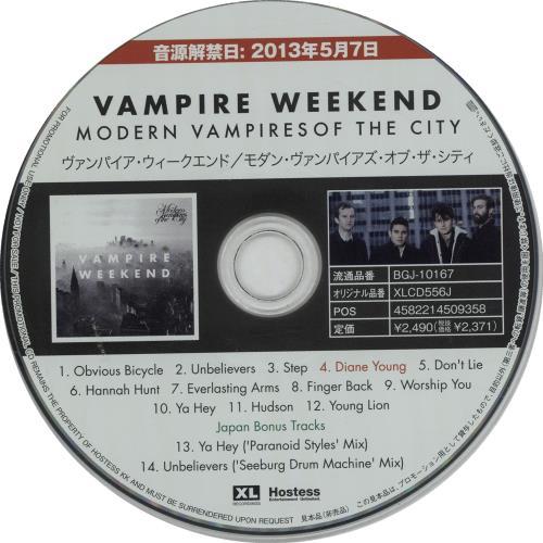 Vampire Weekend Modern Vampires Of The City 2013 Japanese Cd Album Bgj 10167