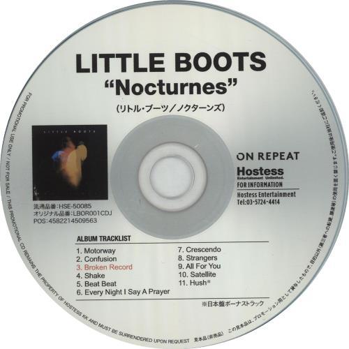 Little Boots Nocturnes Press Release 2013 Japanese Cd R Acetate Hse 50085