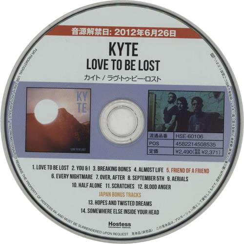 Click to view product details and reviews for Kyte Love To Be Lost Press Release 2013 Japanese Cd Album Hse 60106.