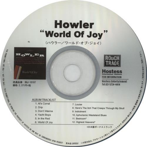 Click to view product details and reviews for Howler World Of Joy Press Release 2014 Japanese Cd Album Bgj 10197.