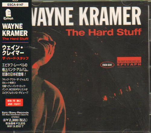 Wayne Kramer The Hard Stuff 1995 Japanese Cd Album Esca 6147
