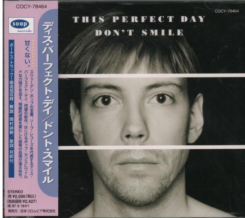 Click to view product details and reviews for This Perfect Day Dont Smile 1995 Japanese Cd Album Cocy 78464.