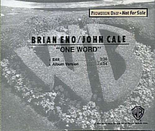 Brian Eno One Word 1990 Usa Cd Single Pro Cd 4601