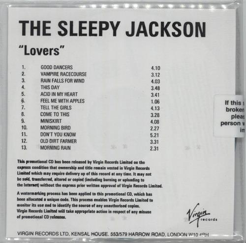 Click to view product details and reviews for The Sleepy Jackson Lovers Album Sampler 2003 Uk Cd R Acetate.