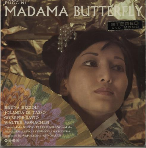 Giacomo Puccini Madame Butterfly Records Lps Vinyl And
