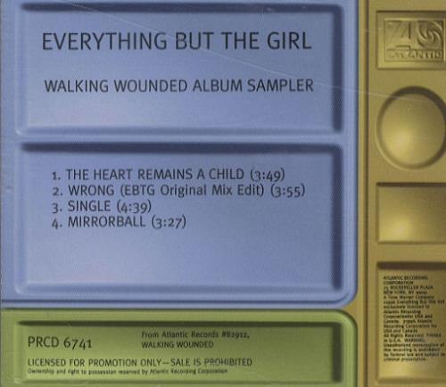 Click to view product details and reviews for Everything But The Girl Walking Wounded Album Sampler 1996 Usa Cd Single Prcd6741.