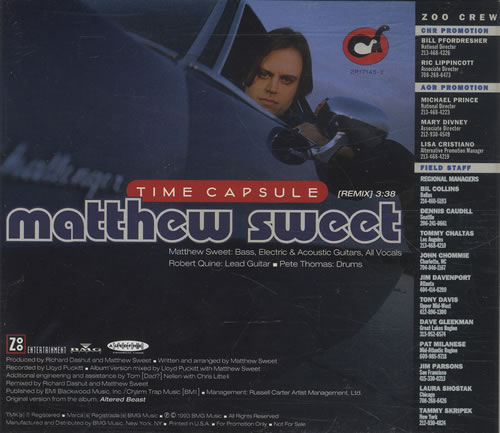 Click to view product details and reviews for Matthew Sweet Time Capsule 1993 Usa Cd Single Zp17145 2.