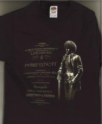 CHEAP Phil Lynott The 3rd Statue Anniversary Commemorating The Life And Music Of Philip Lynott 2008 Irish t-shirt T-SHIRT 22243382681 – General Clothing