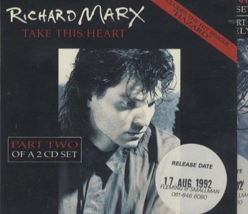 Click to view product details and reviews for Richard Marx Take This Heart Part 1 Part 2 1992 Uk 2 Cd Single Set Cdcl S667.