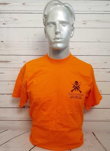 CHEAP Iron Maiden Local Crew 2006 Eddie's Foot Soldier – Orange – L 2006 UK t-shirt CREW T-SHIRT 25934535219 – General Clothing