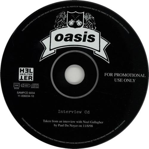 Oasis Interview CD 1998 UK CD album SAMPCD6034
