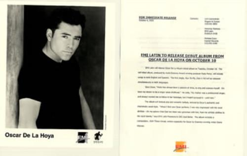 Oscar De La Hoya Oscar De La Hoya 2000 USA press pack PRESS PACK