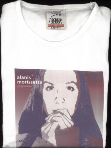 Image of Alanis Morissette Hands Clean - Skinny Fit - Size Medium 2002 UK t-shirt PROMO T-SHIRT