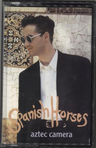 Aztec Camera Spanish Horses 1992 UK cassette single YZ688C