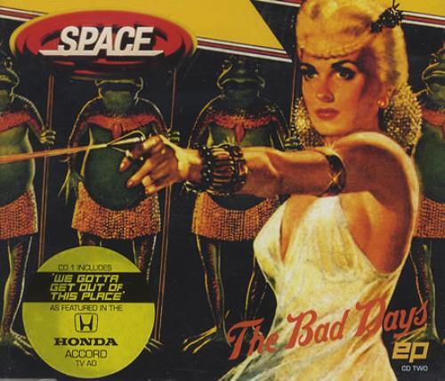Space (90s) The Bad Days EP Parts 1 & 2 1998 UK 2CD single set CDXGUT22