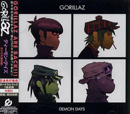 Gorillaz Demon Days 2005 Japanese CD album TOCP66380