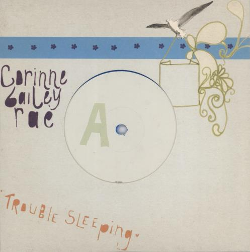 Corinne Bailey Rae Trouble Sleeping  Blue Vinyl 2006 UK 7 vinyl EM692