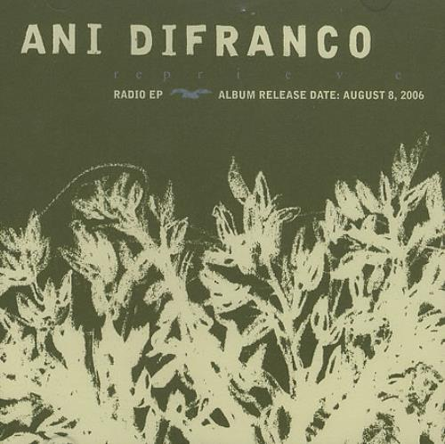 Ani Difranco Reprieve Radio EP 2006 USA CD single PRO20523