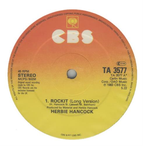 Herbie Hancock Rockit (Long Version) 1983 UK 12 vinyl TA3577
