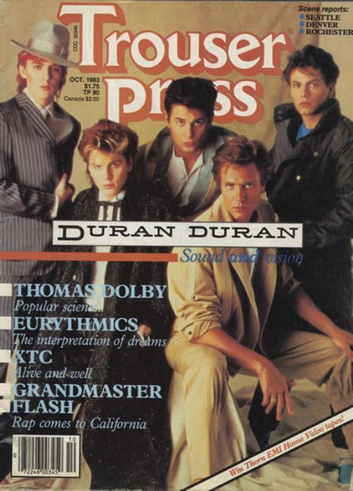 Duran Duran Trouser Press 1983 USA magazine OCTOBER