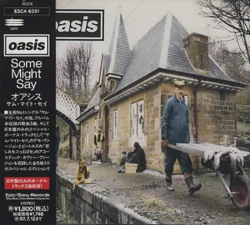 Oasis Some Might Say  Sealed  Obi 1995 Japanese CD single ESCA6251