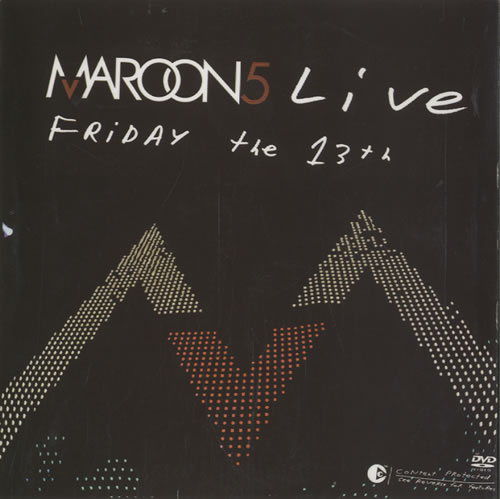 Maroon 5 Live Friday The 13th 2005 Colombian DVD 018000919166