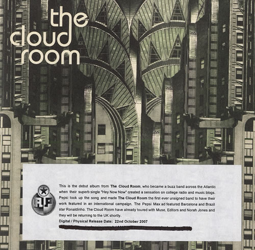 The Cloud Room The Cloud Room 2007 UK CD album CDAG14P