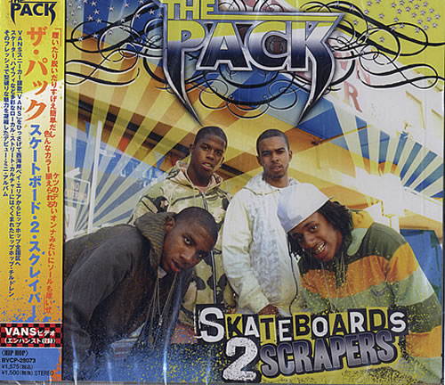 The Pack (Hip Hop) Skateboards 2 Scrapers  Sealed 2007 Japanese CD single BVCP28073