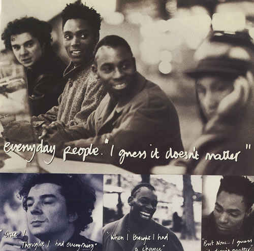 Everyday People (90s) I Guess It Doesnt Matter 1990 UK 7 vinyl SBK8