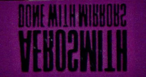 Aerosmith Done With Mirrors 1985 USA badge BADGE