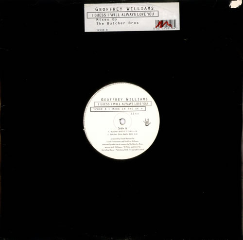 Geoffrey Williams I Guess I Will Always Love You 1996 UK 12 vinyl 12HOR8