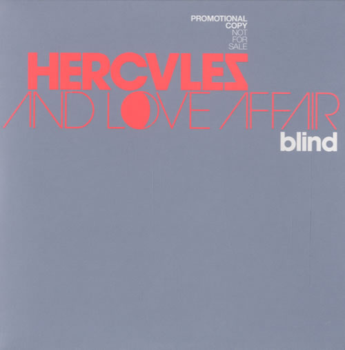 Hercules And Love Affair Blind 2007 UK CD single DFAEMIDJ2192CD