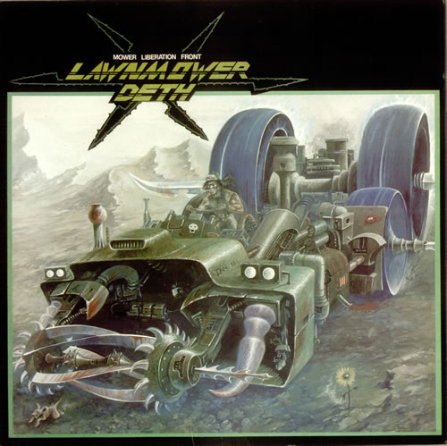 Lawnmower Deth Mower Liberation Front 1989 UK vinyl LP CMO192