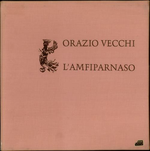 Orazio Vecchi LAmfiparnaso German 2LP vinyl set HM306289
