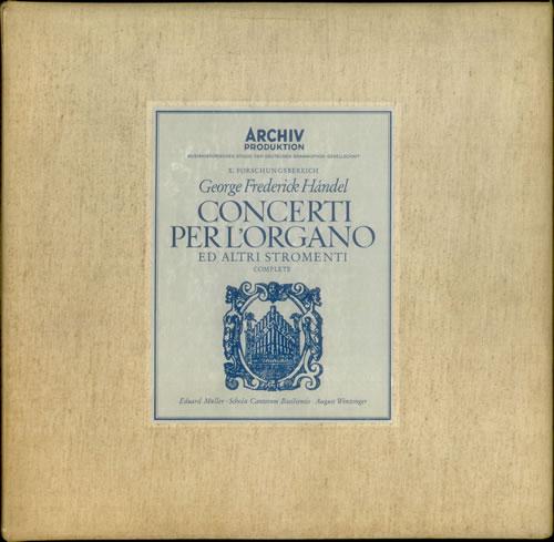George Frideric Handel Concerti Per LOrgano German vinyl box set 104917