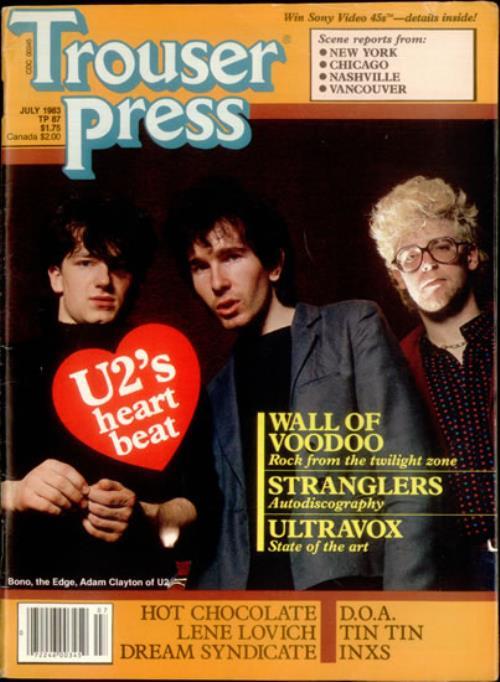 U2 Trouser Press  July 1983 1983 USA magazine VOLUME 10 ISSUE 5