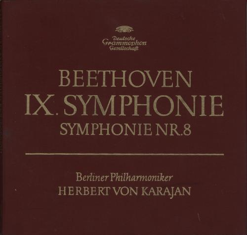 Herbert Von Karajan Beethoven Symphonien 8 & 9 1972 German vinyl box set 2707013