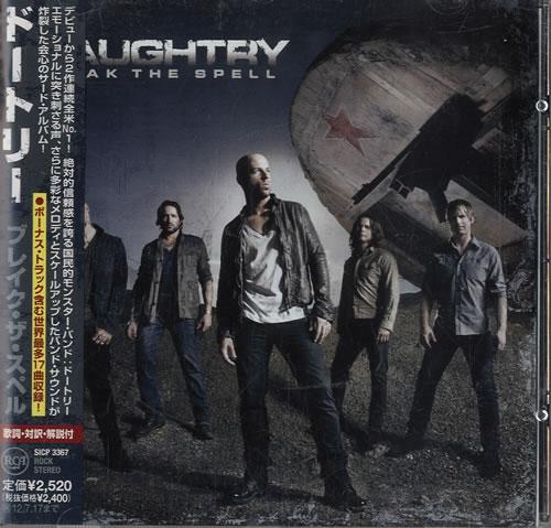 Daughtry Break The Spell 2012 Japanese CD album SICP3367