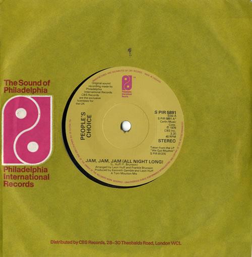 Peoples Choice Jam Jam Jam (All Night Long) 1976 UK 7 vinyl SPIR5891