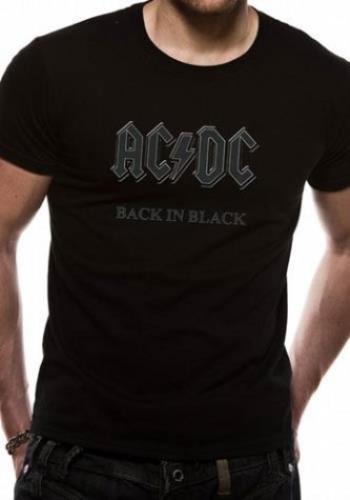 Image of AC/DC Back In Black T-Shirt - Black [M] UK t-shirt T-SHIRT