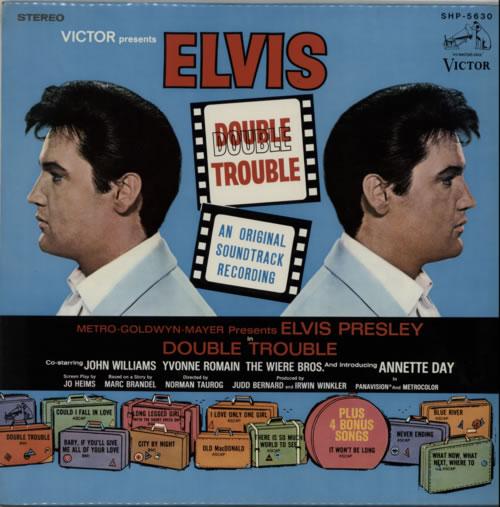 Elvis Presley Double Trouble 1967 Japanese vinyl LP SHP5630