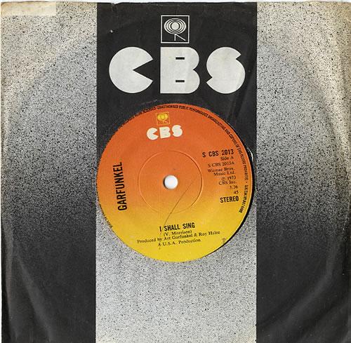 Art Garfunkel I Shall Sing 1974 UK 7 vinyl SCBS2013